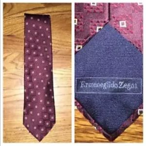 Ermendildo Zegna Woven Silk Classic Tie Italy